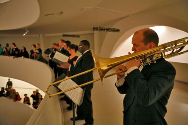 Holiday Concert at the Guggenheim Museum. (Photo: Richard Termine)
