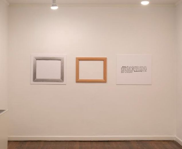 Joseph Kosuth, One and Three Frames (English-Latin),1965. (Photo: Courtesy Castelli Gallery)