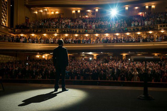 Michael Fassbender stars in Steve Jobs.