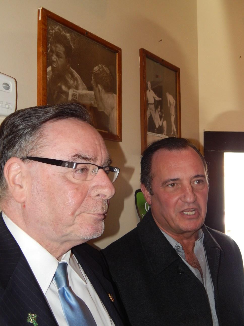 "Harold ""Buddy"" Demellier, left, with Tom Bertoli."