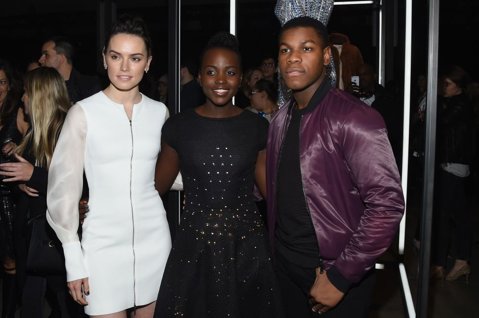 Daisy Ridley, Lupita Nyong'o, John Boyega (Photo: Larry Busacca/Getty Images for Disney Consumer Products).