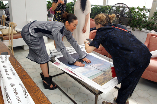 Description - MIAMI BEACH, FL - DECEMBER 03: Karen Robinovitz and Cecilia Dean attend Spotify Brunch hosted by Cecilia Dean & James Kaliardos of Visionaire @ Soho Beach House during Art Basel Miami 2015 at Soho Beach House on December 3, 2015 in Miami Beach, Florida. (Photo by Astrid Stawiarz/Getty Images for Soho House & Co)