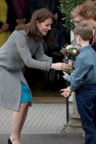 WARMINSTER, ENGLAND - DECEMBER 10: Catherine, Duchess of Cambridge walks from the main house during an official visit to the Action on Addiction Centre for addiction treatment studies at Action on Addiction Centre on December 10, 2015 in Warminster, England. (Photo by Matt Cardy/Getty Images)