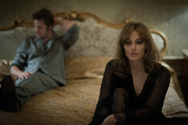 Angelina Jolie Pitt and Brad Pitt in By the Sea.