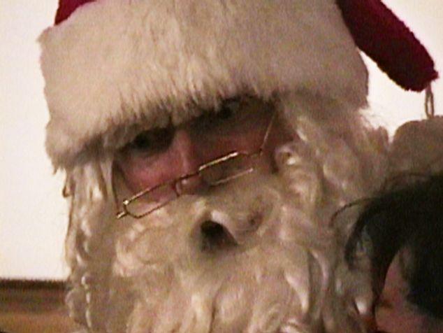 "Arnold Schwarzenegger as Santa (from ""365 Day Project,"" Jonas Mekas, 2007). (Image: Courtesy of the artist)"