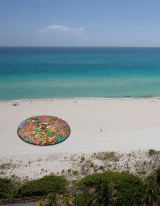 """assume vivid astro focus, angeles veloces arcanos fugaces,"" 2014. (Courtesy Faena Art, Miami Beach)"