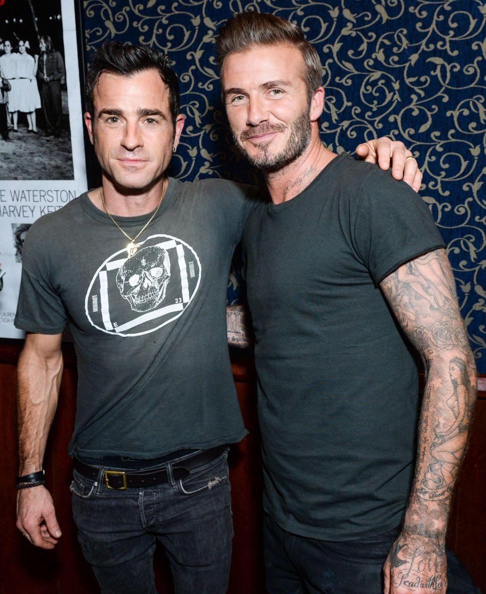David Beckham, Justin Theroux (Photo: BFA).