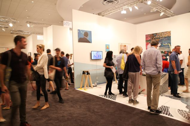 The opening day of NADA Miami Beach 2015 at the Fontainebleau Hotel. (Photo: BFA)