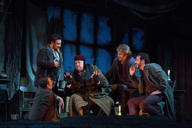 La Boheme. (Photo by Marty Sohl, courtesy Metropolitan Opera)
