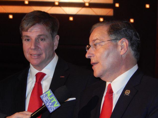 N.J. Assemblyman Chris Brown, left, with Republican Assembly Minority Leader Jon Bramnick.
