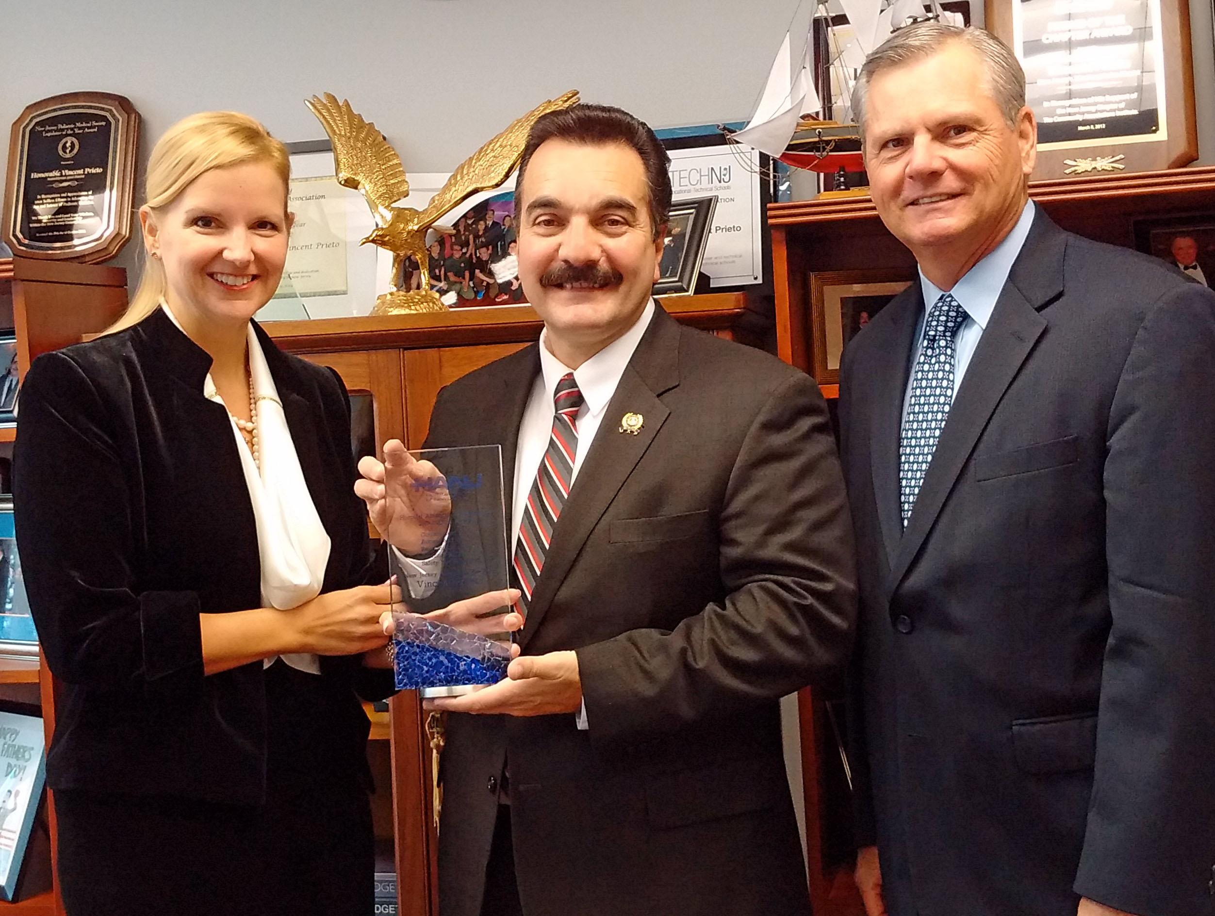 Prieto was a recipient of the CARES award.