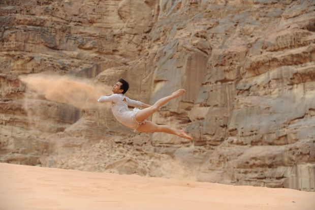 Jason Garcia Ignacio in Thirst, a film made in the protected desert of Wadi Rum in the Hashemite Kingdom of Jordan. (Photo: Courtesy of Paul Gordon Emerson)
