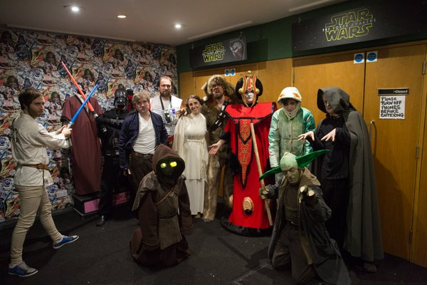 Staff of Picturehouse in Exeter, UK dressed up for Star Wars: The Force Awakens. (Photo: Via Twitter/Exeter Picturehouse)