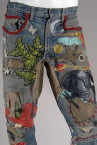 Levi Strauss & Co. Embroidered Denim Jeans, circa 1969. (Photo: Courtesy of the Museum at FIT)