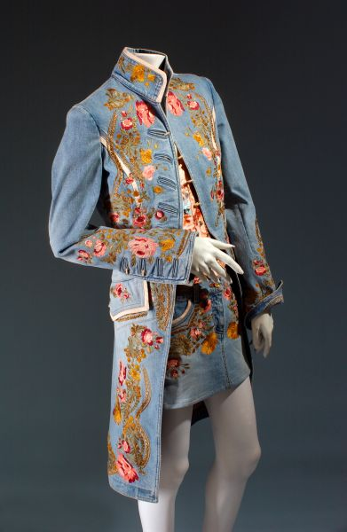 Roberto Cavalli Embroidered Denim Ensemble, spring 2013. (Photo: Courtesy of Museum at FIT)