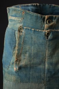 Men's Work Denim and Brushed Cotton Pants, circa 1840. (Photo: Courtesy of the Museum at FIT)
