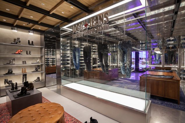 A glass display case (Photo: Courtesy Diesel).