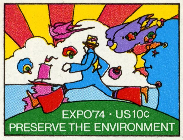 The Peter Max 10 cent stamp.