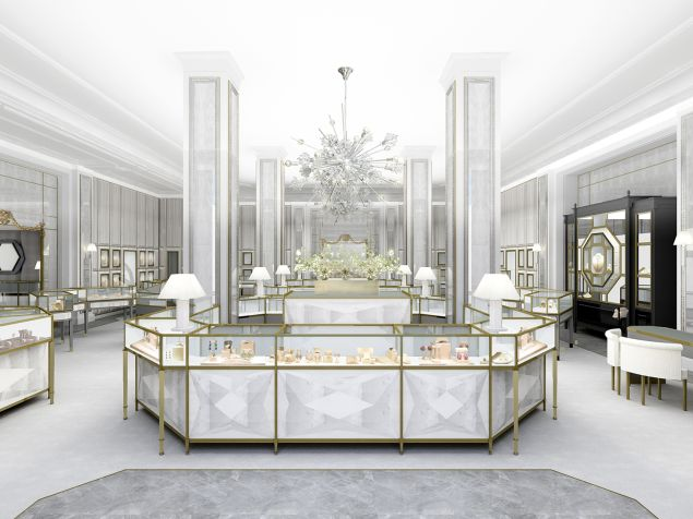 A rendering of the new jewelry section (Photo: Courtesy Bergdorf Goodman).