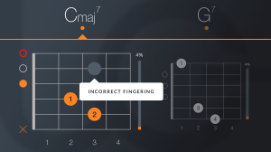Finger correction interface. (Image: screenshot from Uberchord)