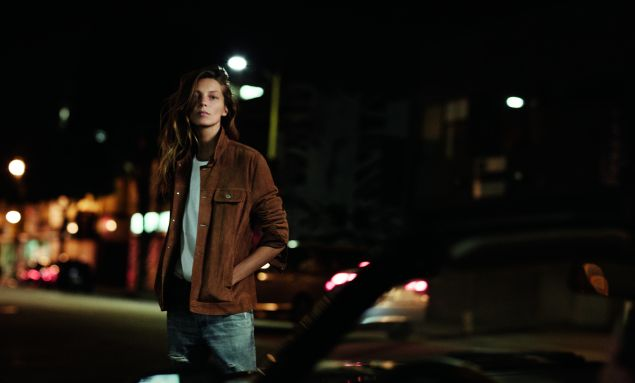 Daria Werbowy for AG Jeans (Photo: Courtesy AG Jeans).