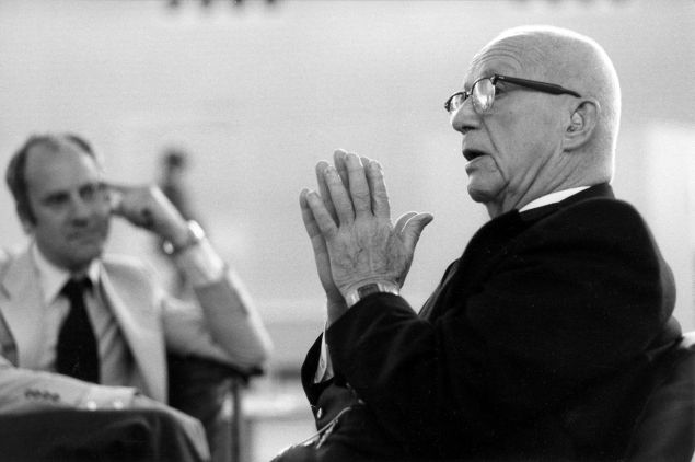 Sir Norman Foster, left, and his mentor Buckminster Fuller (Photo courtesy of Sir Norman Foster).