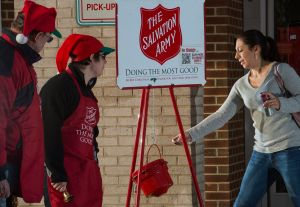 How does working at the Salvation Army help you in PR? Hodges Partnership staff can tell you. (Photo by Paul J. Richards/Getty Images)