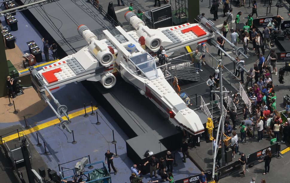 Legos would be another way to make a pretend X-Wing. (Photo: EMMANUEL DUNAND/Getty Images)