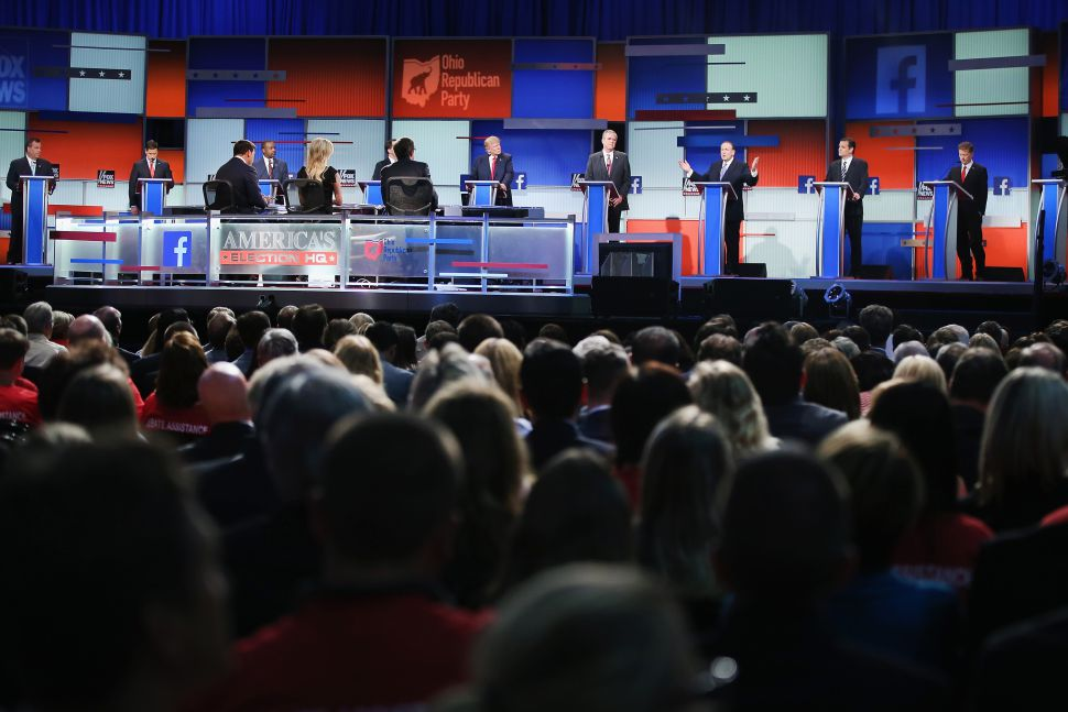 The first of many GOP debates. (Photo by Scott Olson/Getty Images)