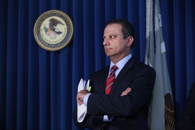 Manhattan U.S. Attorney Preet Bharara in September.