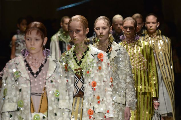 Prada's Spring/Summer 2016 show (Photo: Tiziana Fabi/AFP/Getty Images)