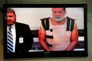 Colorado Springs shooting suspect appears before Judge Gilbert Martinez via video feed with public defender.(Photo by Daniel Owen-Pool/Getty Images)