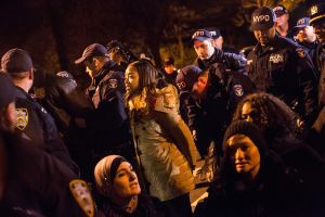 At a rally for Eric Garner, 23 demonstrators near Gracie Mansion were arrested for blocking traffic.