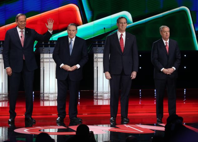 Republican presidential candidate during the CNN Republican presidential debate on December 15, 2015 in Las Vegas, Nevada. (Photo: Ethan Miller for Getty Images)
