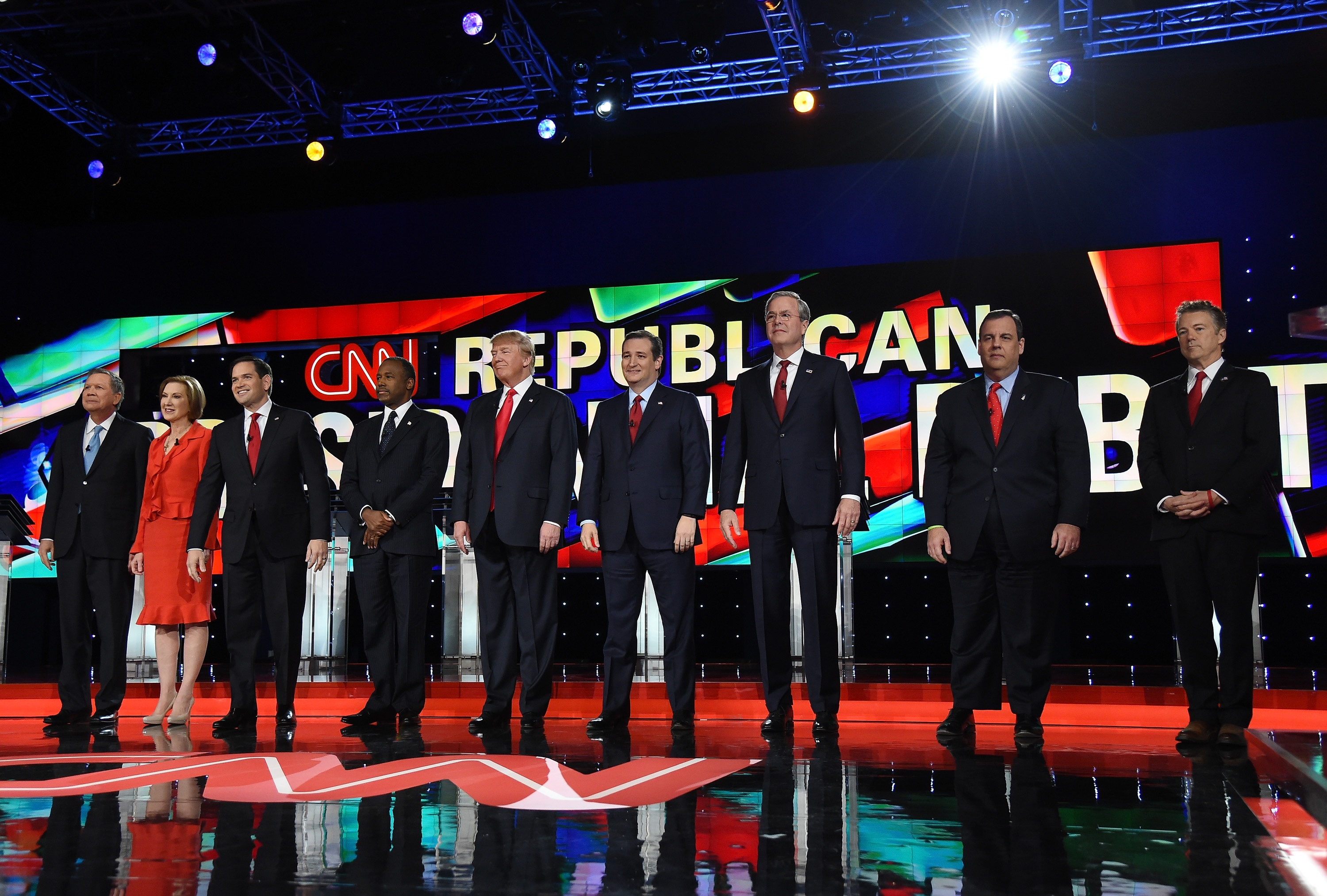 The Republican presidential candidates.