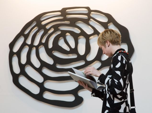 """""""Where can I buy a new brain"""" by German artist Bodo Korsig (MICHAEL LATZ/AFP/Getty Images)"""