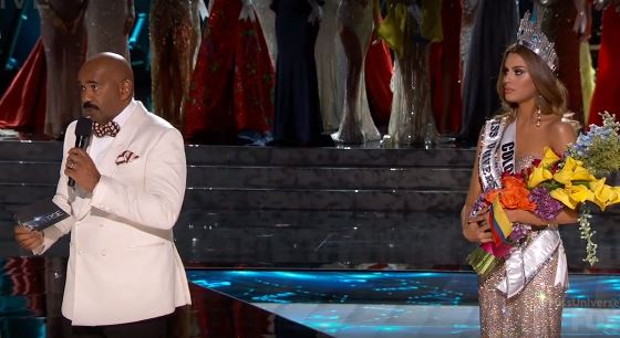 Steve Harvey admits to announcing wrong winner at Miss Universe. (Photo: Screenshot via YouTube)