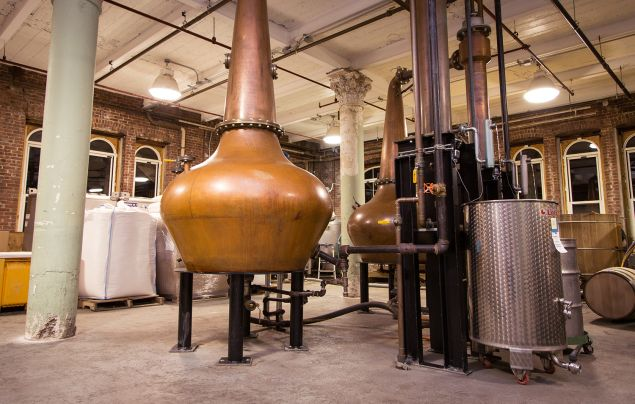 The final stage of distillation. (Photo: Kaitlyn Flannagan for Observer)