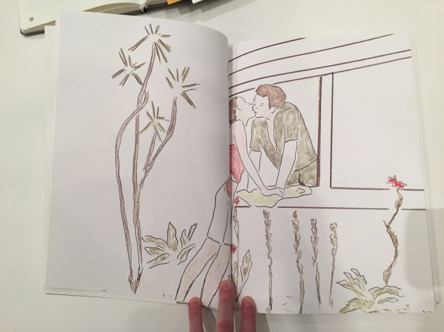 Drawings from Dome, an artist book by Mr. Shani. (Photo: Alanna Martinez)