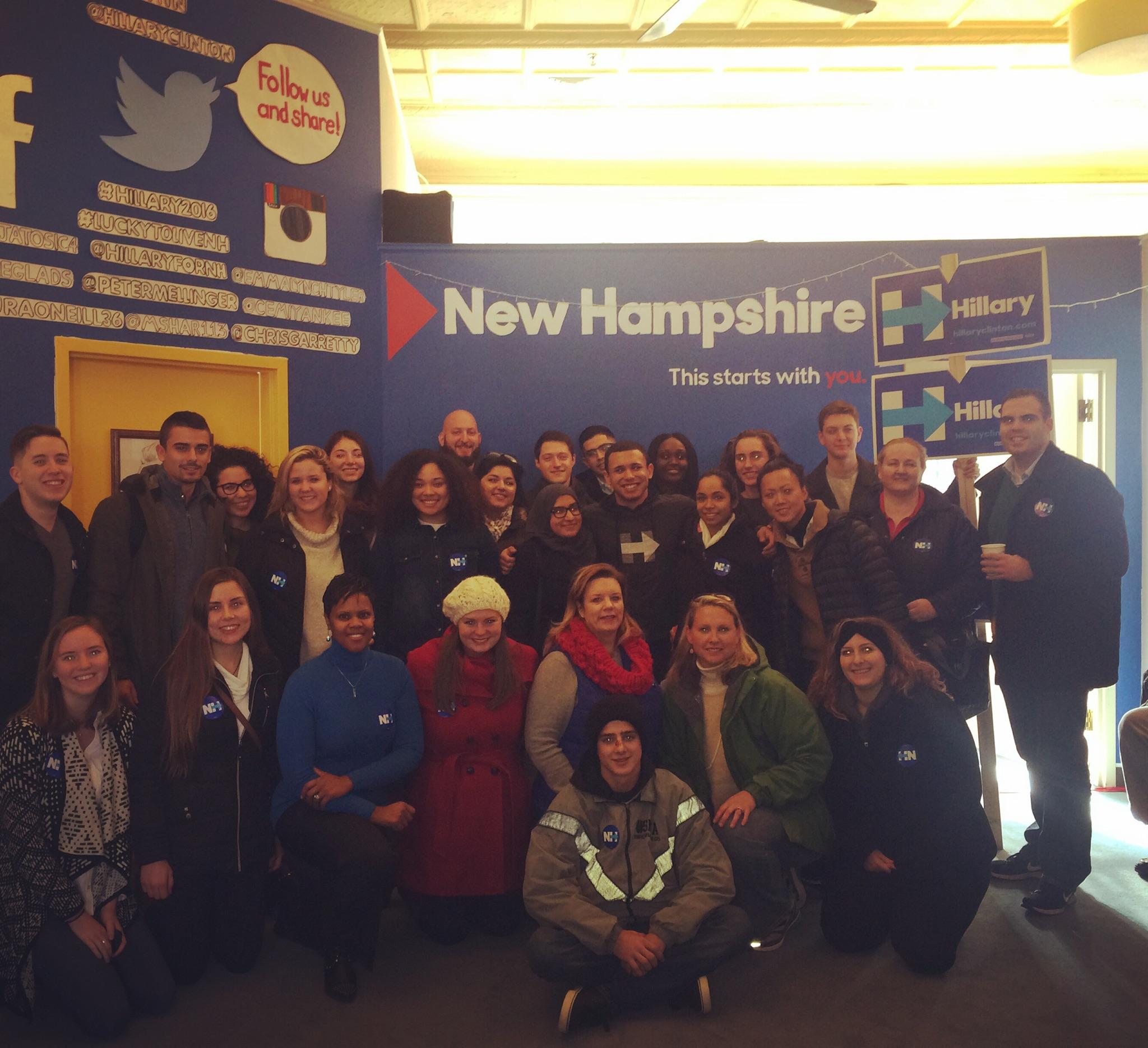 Some NJ Hillary supporters on a trip to NH in December.