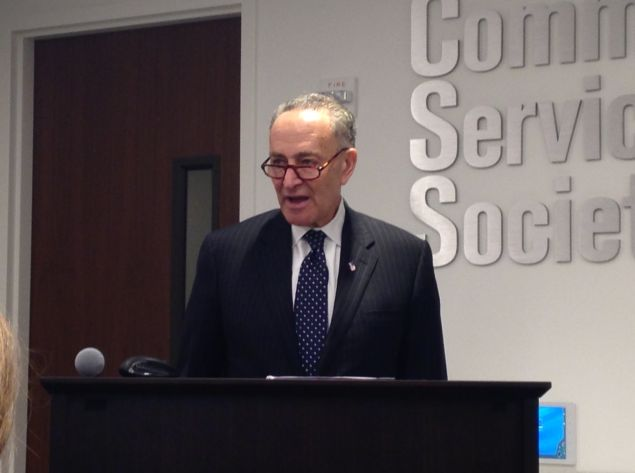Sen. Charles Schumer today (Photo: Will Bredderman for Observer).