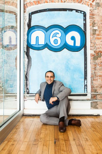 Good exposure: Matt Rizzetta's N6A offers workplace transparency. (Photo: Emily Assiran for Observer)