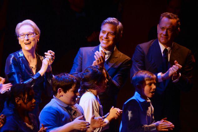 Meryl Streep, George Clooney, Tom Hanks (Photo: Clint Spaulding for Patrick McMullan).