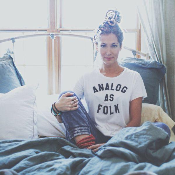 Jess Davis wearing one of her designs (Photo: Folk Rebellion).