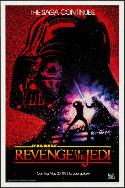 """Revenge of the Jedi (20th Century Fox, 1982). One Sheet (27"""" X 41"""") Dated Advance Style. (Photo: Heritage Auctions)"""