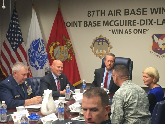 MacArthur and Thornberry on Friday's tour of the joint base