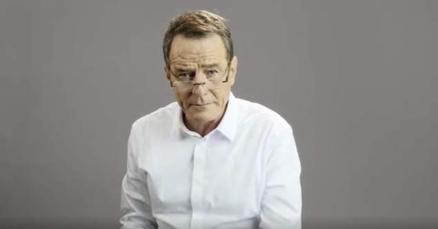 "Brian Cranston in W's ""Hotline Bling"" remake (Photo: W)."