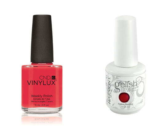 CND Lobster Roll and Gelish Hot Rod Red Photo: Courtesy Paintbox)