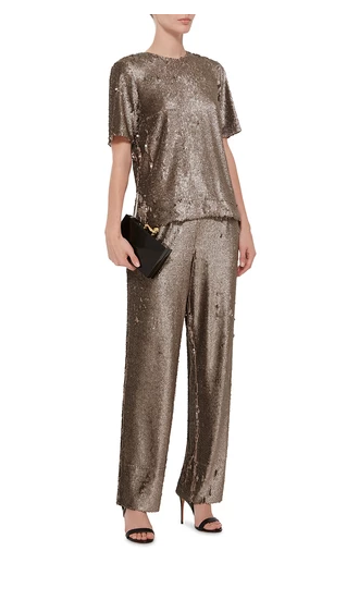 Prabal Gurung's Sequined T-Shirt and Pants (Photo: Moda Operandi).