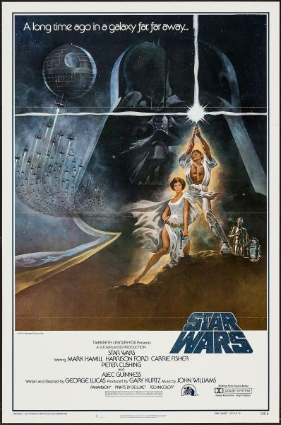 """Star Wars (20th Century Fox, 1977). First Printing One Sheet (27"""" X 41"""") Flat Folded Style A. (Photo: Heritage Auctions)"""